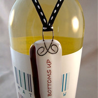 Bottoms Up Wine Tag by Design4Soul