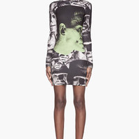 Christopher Kane Green And Black Frankenstein Profile Dress for women | SSENSE