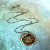 Captain Wentworth's Wax Seal Pendant Necklace by RenataandJonathan