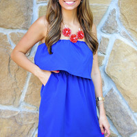 Unconditional Love Dress: Blue | Hope's