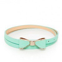 Take a Bow Belt in Mint - ShopSosie.com