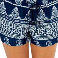 Tanya Tribal Drawstring Shorts $39