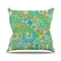 "Julia Grifol ""Welcome Birds to my Garden"" Throw Pillow 