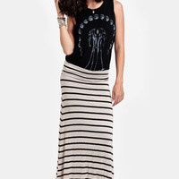 Believer Striped Maxi Skirt