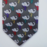Vintage Brooks Brothers Elephant Necktie