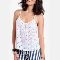 Summer Fling Eyelet Top
