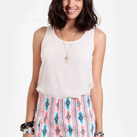 Painted Desert Printed Shorts