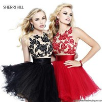 Sherri Hill Short Dress 21219 at Peaches Boutique