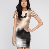 Edith A. Miller / 1/2 and 1/2 Crew Neck S/S Mini
