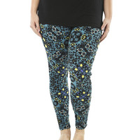 Floral Contrast Colored Legging | Shop Jr. Plus at Wet Seal