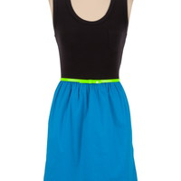 Belted 2fer Tank Dress