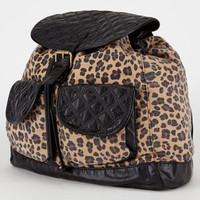 T-SHIRT & JEANS Quilted Trim Leopard Backpack 217726149 | Backpacks | Tillys.com