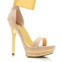 Velvet-Metallic-Strappy-Heels BEIGE BLACK RED - GoJane.com
