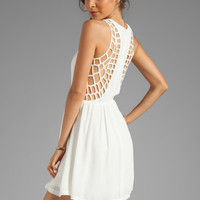Eight Sixty Spider Web Back Gauze Dress in Off White from REVOLVEclothing.com