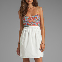 Ladakh Embroidered Scarf Print Dress in Ivory from REVOLVEclothing.com