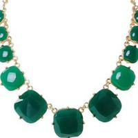 Emerald Stone Round Statement Necklace