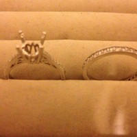 Have You Seen the Ring?: 18k White Gold Engagement Setting with Band