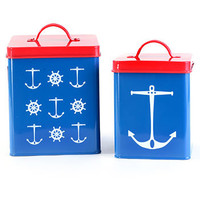 Set Sail Retro Storage Tins