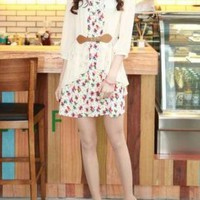 STYLISH ESSENCE FLORAL DESIGN DRESS