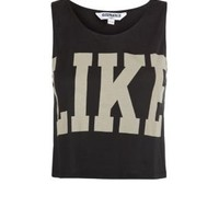 New Look Mobile | Teens Black Like Crop Top