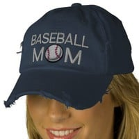Baseball Mom Embroidered Baseball Cap from Zazzle.com