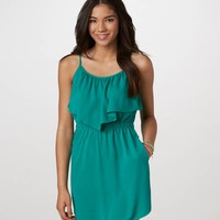AE Ruffled Chiffon Dress | American Eagle Outfitters