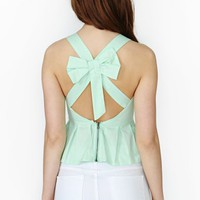 Sweet Ties Peplum Top