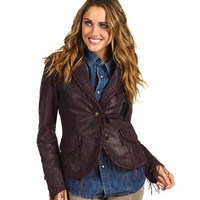Scully Ladies Estelle String Fringe Premium Soft Lamb Jacket