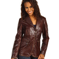 Scully Ladies Gretchen Studded Trim Vintage Leather