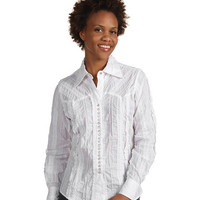 Scully Lace Stripe Shirt