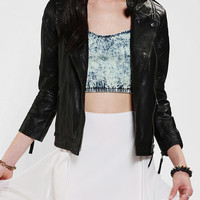 Sparkle & Fade Leather Moto Jacket