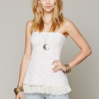 Free People FP ONE Crochet Peplum Tank
