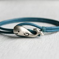 Whale Leather  Bracelet