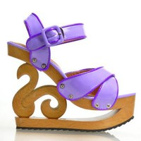 Amazon.com: Show Story Vogue Wooden Wedge Platform Clogs Sandals Party Pump,LY11803: Shoes