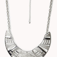 Tribal Pattern Bib Necklace