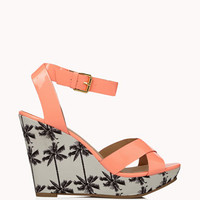 Faux Patent Palm Tree Wedges | FOREVER 21 - 2048546187