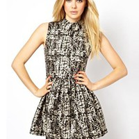 Arrogant Cat London Mini Prom Dress in Print at asos.com
