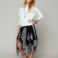 Free People Printed Squared Off Slip Skirt