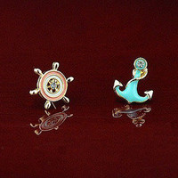 anchors rudder earrings