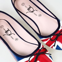 Union Jack Ballet Style Shoes Flattie