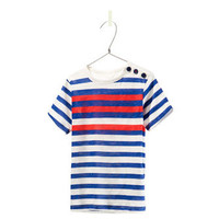 TWO - TONE STRIPED T - SHIRT - T - shirts - Baby boy - Kids | ZARA United States