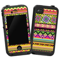 "Happy Bright Tribal ""Protective Decal Skin"" for LifeProof 4/4S Case:Amazon:Cell Phones & Accessories"