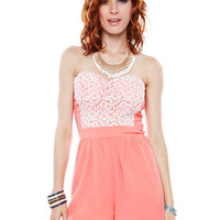 Papaya Clothing Online :: LACY TUBE TOP CHIFFON ROMPER