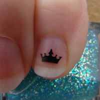 Royal Crown Size SMALL Nail Art Decals Set of 20 Vinyl Bling Stickers Applique Manicure Pedicure Party Event Accessories