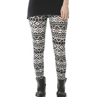 Aztec Tribal Print Legging | Shop Just Arrived at Wet Seal