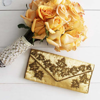 Vintage Gold Beaded Clutch, Sweet Bohemian Bags & Clutches