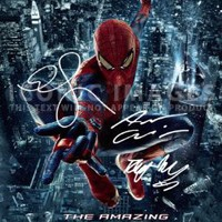 Amazon.com: The Amazing Spider-Man Spiderman Poster Photo Signed PP by 3 Andrew Garfield Emma Stone Rhys Ifans A4 Size 21cm x 29.7cm: Home & Kitchen