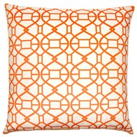 Picnic Spiral Orange Throw Pillow