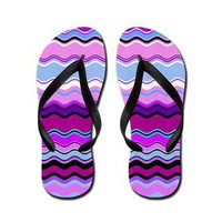 Color Waves Grape Flip Flops> Artisticallylala