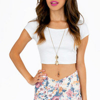 Springtime Scalloped Shorts $32